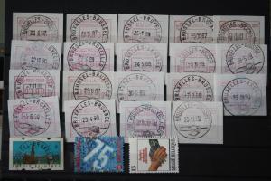 Lot von 20 ATM Belgien aus der Anfangszeit