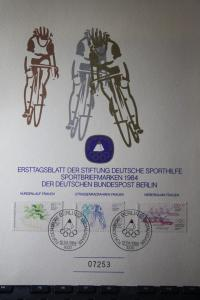 Deutsche Sporthilfe Ersttagsblatt BERLIN 1984 Limitiert, numeriert