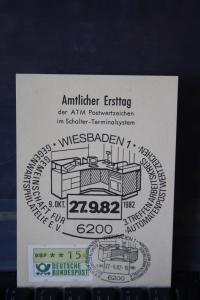 ATM Wiesbaden, MK amtlicher Ersttag 1982