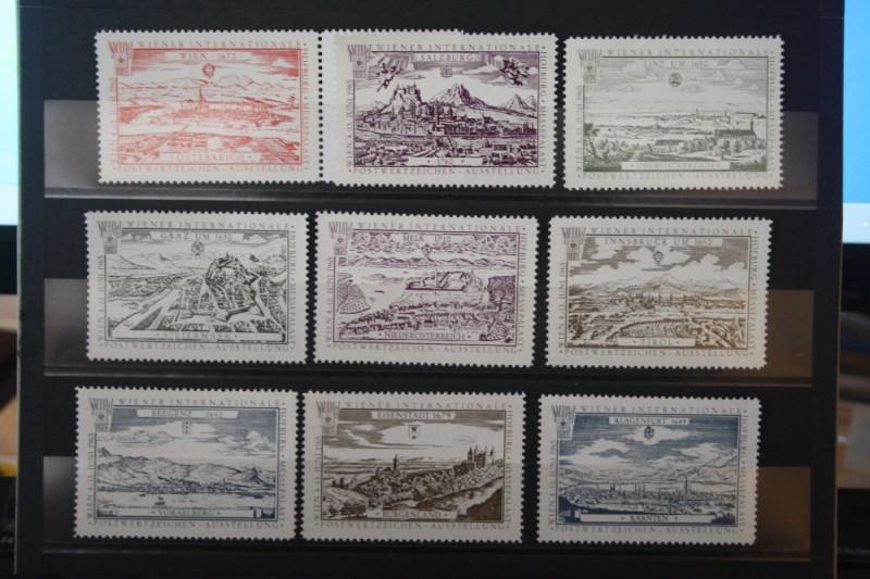 WIPA 1965 - Vignettensatz mit 9 Vignetten