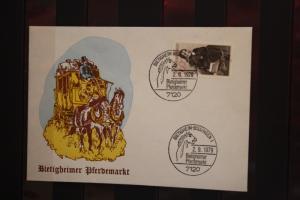 Schmuckbrief ; Bietigheimer Pferdemarkt 1979