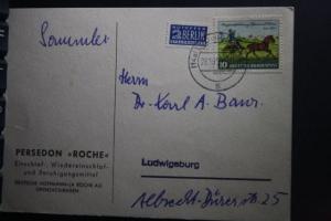 100 Jahre Thurn und Taxis-Briefmarken auf beförderter Karte