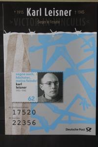 Erinnerungsblatt EB 1/2015; Gedenkblatt; Klappkarte: Karl Leisner