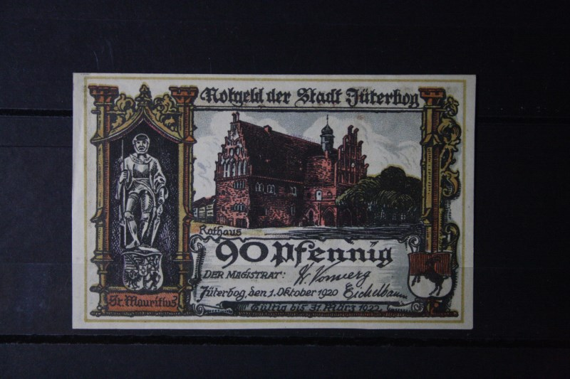 Notgeld Jüterbog, 90 Pf.