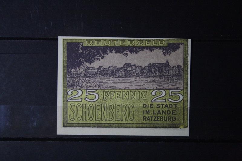 Notgeld Schoenberg bei Ratzeburg ,25 Pf.
