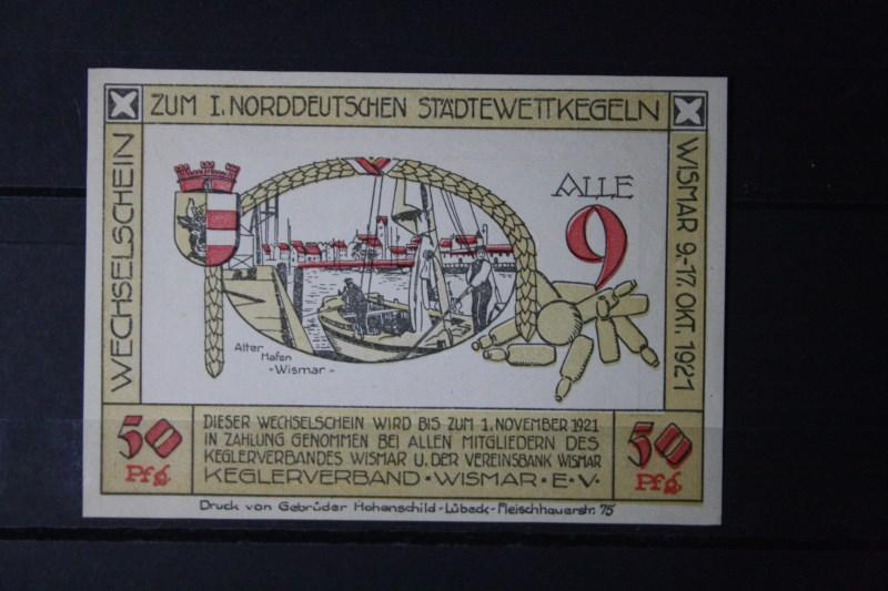 Notgeld Wismar ,50 Pf.