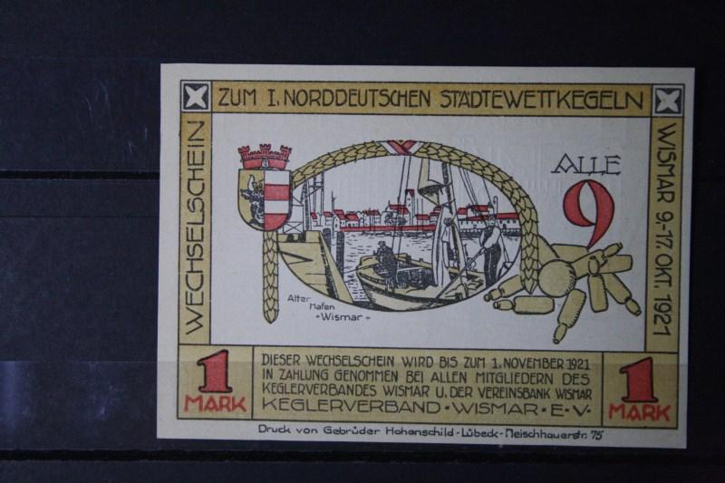 Notgeld Wismar , 1 Mark