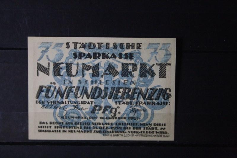 Notgeld Neumarkt / Schlesien, 75 Pf.