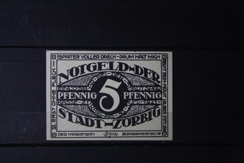 Notgeld Zörbig, 5 Pf.