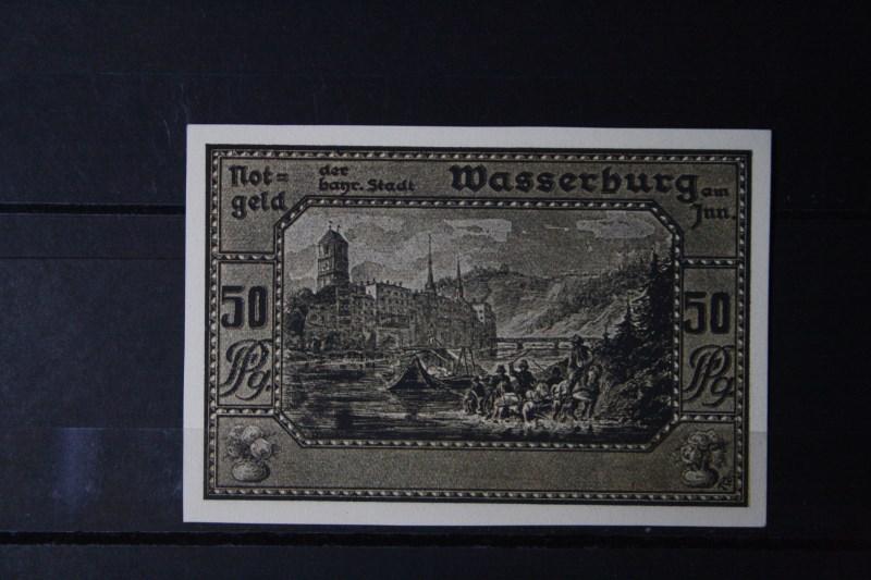 Notgeld Wasserburg am Inn, 50 Pf.