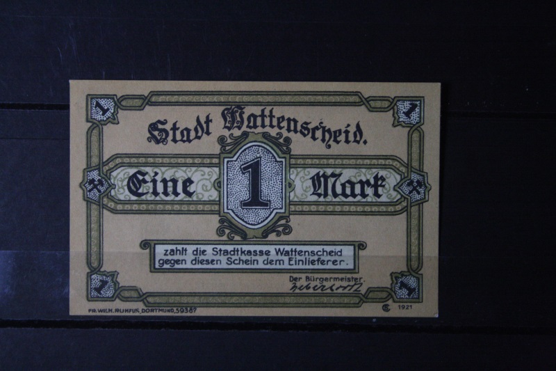 Notgeld Wattenscheid, 1 Mark