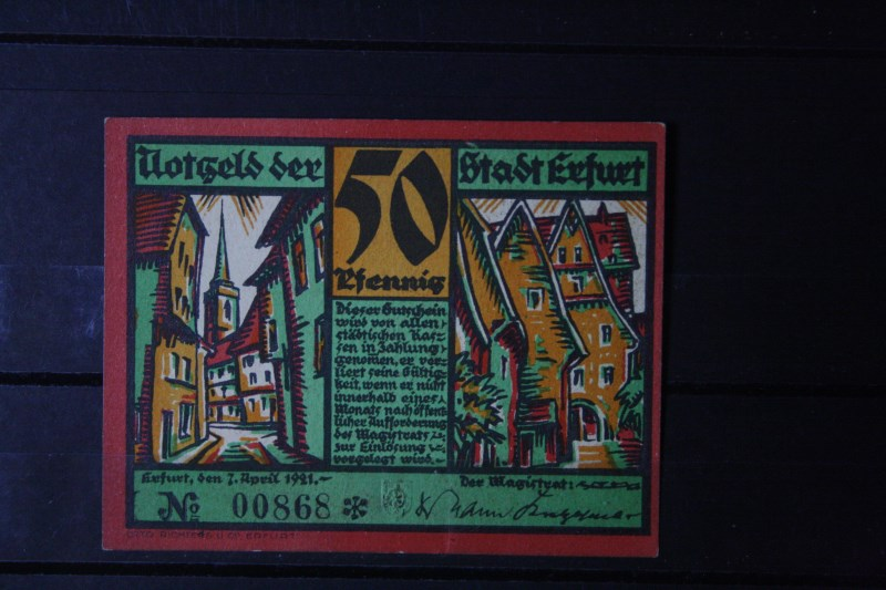 Notgeld Erfurt, 50 Pf.