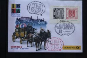 IBRA Nürnberg 1999; Ausstellungsbrief Deutsche Post; Ersttagsstempel