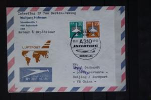 Interflug IF 700; Erstflug Berlin-Peking 1989