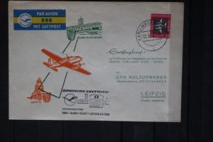 Deutsche Lufthansa (DDR); Erstflug Karl-Marx-Stadt-Leipzig 1958