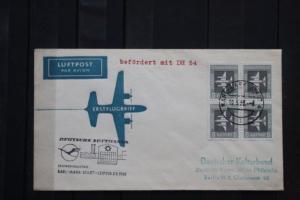 Lufthansa (DDR), Erstflug Karl-Marx-Stadt- Leipzig mit DH 54
