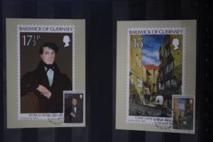 Guernsey; Bailiwick of Guernsey; Gemälde, Malerei; Set von 5 Maximumkarten; 1980