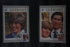 Royal Wedding 1981; Guernsey, Maximumkarten