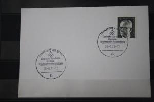 Stempelkarte mit Sonderstempel: Frankfurt, Deutsche Sporthilfe 1971