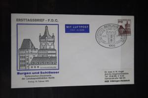 Ganzsache; Postkarte, Burgen und Schlösser; FDC