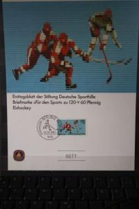 Sporthilfe Ersttagsblatt Berlin 1983; Eishockey