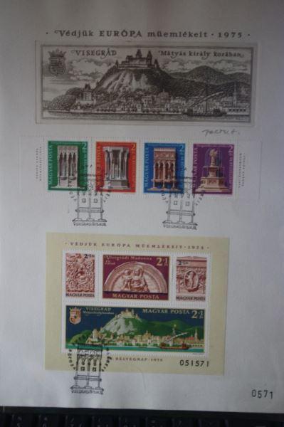 Ungarn, Europäisches Denkmalschutzjahr 1975, Künstler-ETB, Ersttagsblatt