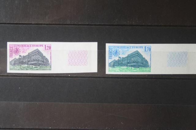Europarat, Dienstmarken, Frankreich 1978, ungezähnt, geschnitten, mit Seitenrand