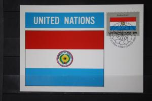 MK Maximumkarte UNO New York Flaggen 1984 Paraguay