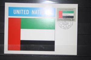 MK Maximumkarte UNO New York Flaggen 1984 United Arab Emirates