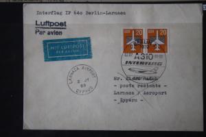 Interflug IF 640; Erstflug Berlin-Larnaca 1989