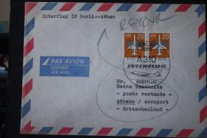 Interflug IF; Erstflug Berlin-Athen 1989