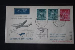 Deutsche Lufthansa; Eröffnungsflug 1955 nach New York