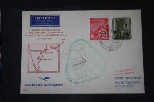 Deutsche Lufthansa; Eröffnungsflug LH 500; 1956 Deutschland-Südamerika