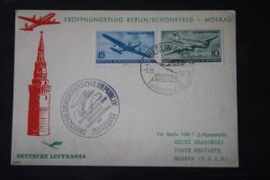 Deutsche Lufthansa; Eröffnungsflug Berlin-Moskau 1956