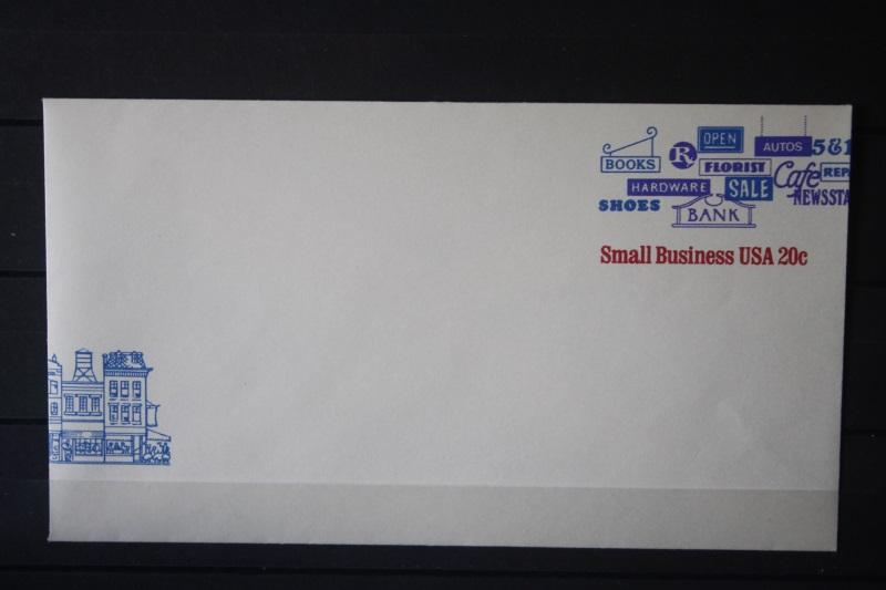 USA Ganzsache Ganzsachenumschlag Small Business USA, 20 Cent