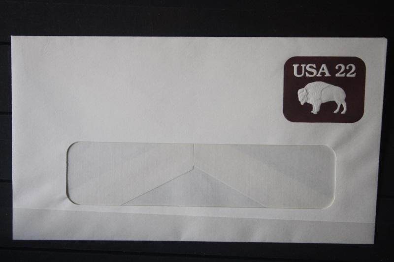 USA Ganzsache Ganzsachenumschlag, 22 Cent, mit Fenster