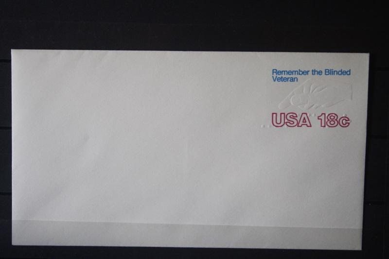 USA Ganzsache Ganzsachenumschlag, Remember the Blinded Veteran18 Cent