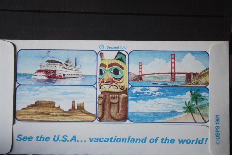 Usa Ganzsache Ganzsachenumschlag Aerogramme Tour The United States