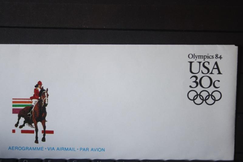 USA Ganzsache Ganzsachenumschlag, Aerogramme, Olympics 84, 30 Cent