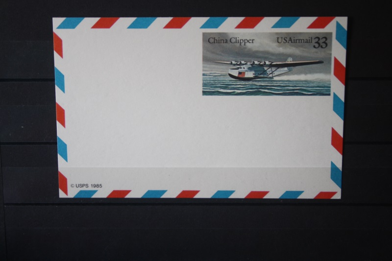 USA Ganzsache Ganzsachenkarte 1985, Airmail, 33 Cent