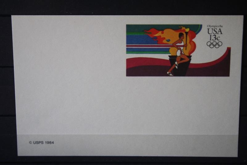 USA Ganzsache Ganzsachenkarte 1984, Olympics 84, 13 Cent