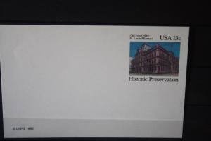 USA Ganzsache Ganzsachenkarte 1982, Old Post Office St. Louis, 13 Cent