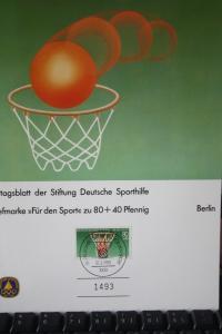 Deutsche Sporthilfe Ersttagsblatt 1985 BERLIN