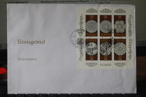 DDR FDC Ersttagsbrief Kleinbogen Klöppelspitze 1988