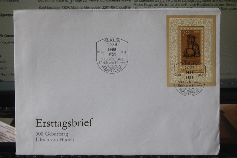 DDR FDC Ersttagsbrief Ulrich von Hutten 1988
