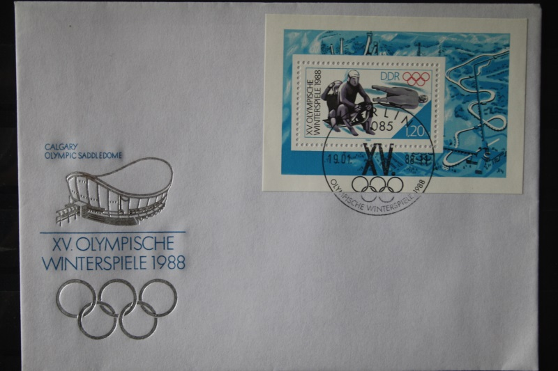 DDR FDC Ersttagsbrief Olympische Winterspiele 1988