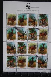 Mocambique WWF Kleinbogen mit 16 Marken Tiere