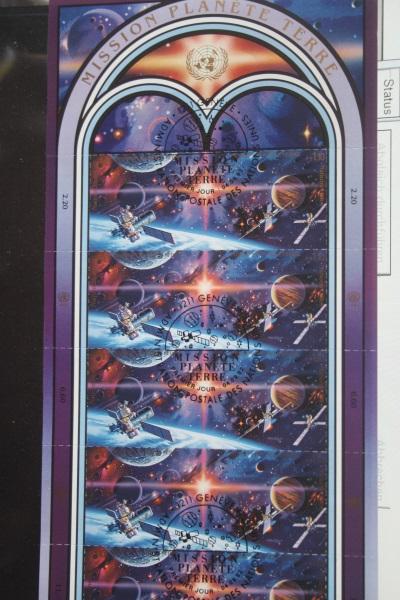 UNO Genf, Kleinbogen Mission Planete Terre 1992, Weltraum, Raumfahrt