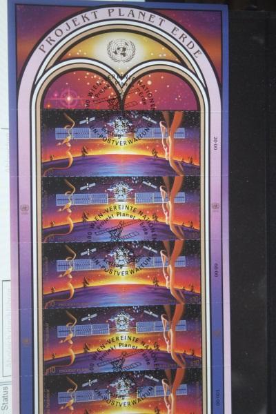 UNO Genf, Kleinbogen Projekt Planet Erde 1992, Weltraum, Raumfahrt