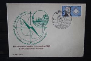 DDR, Erfurt, 200.Geburtstag C.F.Gauss; Polarpostarbeitskreis, 1977